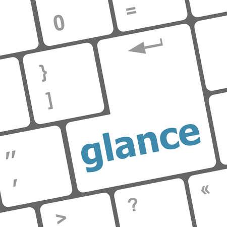 button computer: palabra vistazo clave en el teclado el bot�n, el ordenador port�til