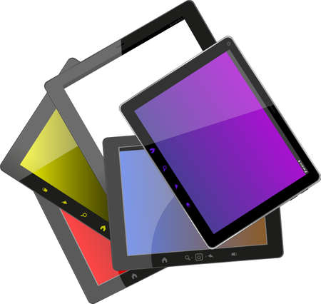 Set of tablet pc computers photo