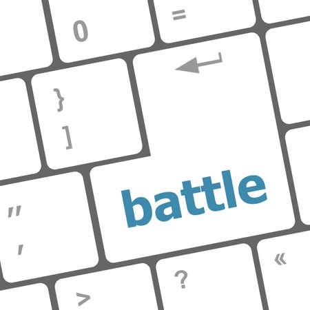 battle button on computer keyboard pc key Stock Photo - 25050499