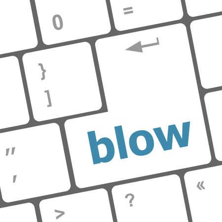 blow button on computer pc keyboard key photo