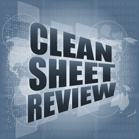 clean sheet review on touch screen, media communication on the internet photo