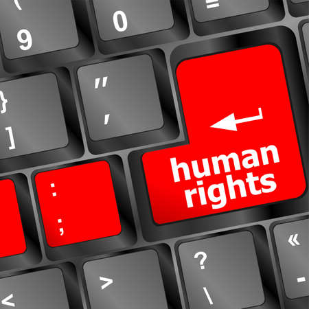 human rights button on computer keyboard pc key Stock Photo - 25070523
