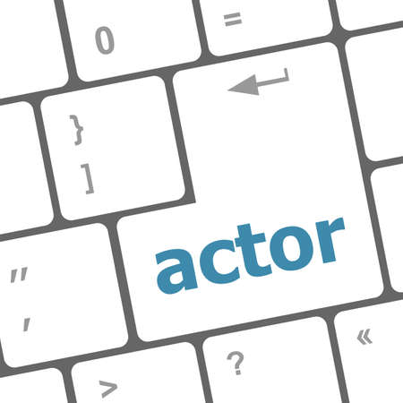 Actor button on keyboard key photo