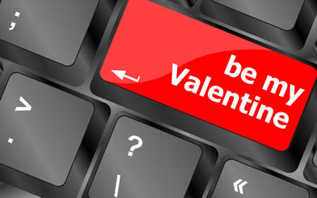 Computer keyboard key - Be my Valentine photo