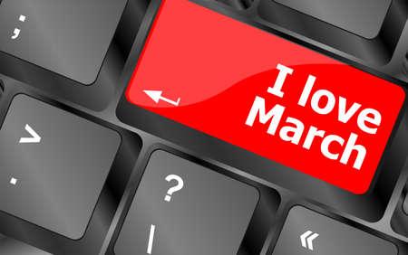 Computer keyboard key - i love march photo