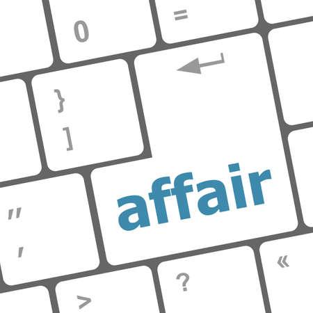 affair: computer keyboard keys, affair word