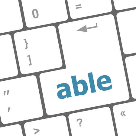 able: Modern Computer Keyboard key with able text on it