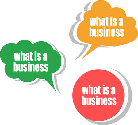 what is a business. Set of stickers, labels, tags. Business banners, Template for infographics photo