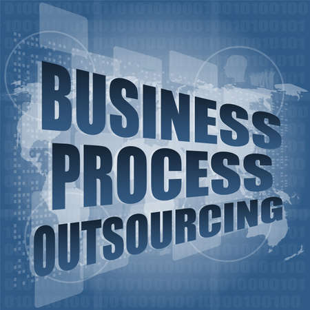 outsourcing: business process outsourcing interface hi technology Stock Photo