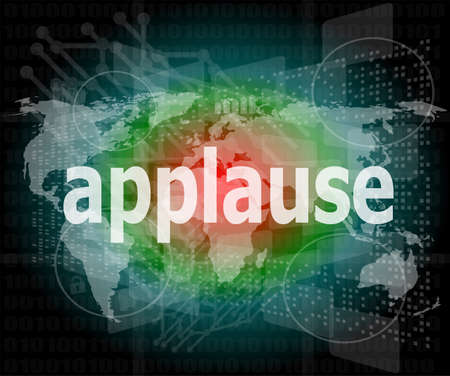 applause word poster concept. Financial support message design photo