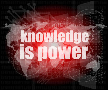 Education and learn concept  words knowledge is power on digital screen photo