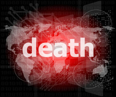 socail concept: words death on digital touch screen photo