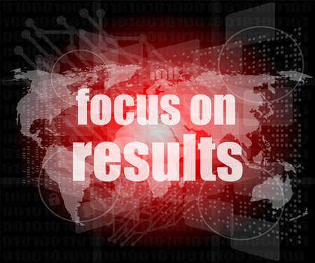 Life style concept: words focus on results on digital touch screen photo