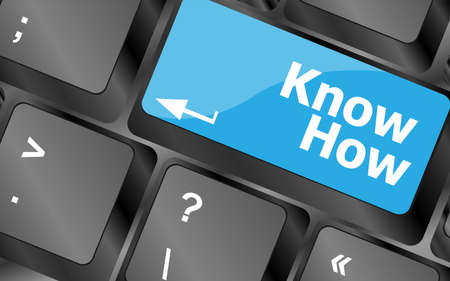 know how button keyboard key - business concept 版權商用圖片