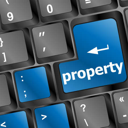 property message on keyboard enter key, to illustrate the concepts of copyright photo