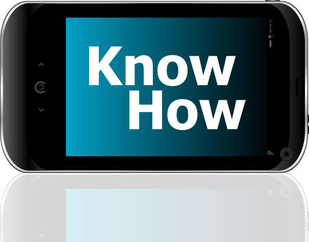 know how: smart phone with know how word