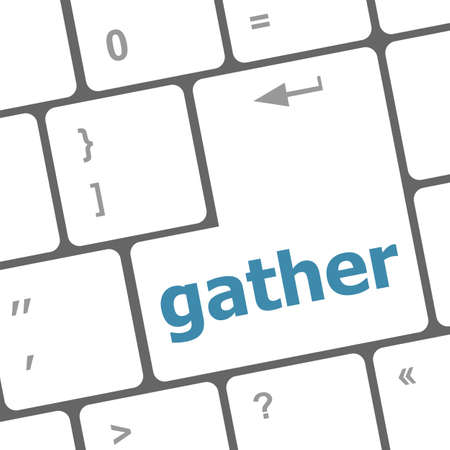 gather: gather button on computer pc keyboard key Stock Photo