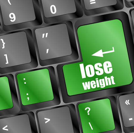 Lose weight on keyboard key button photo