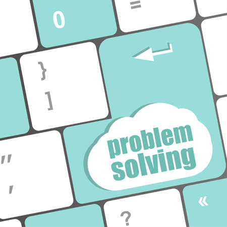 problem solving button on computer keyboard key photo