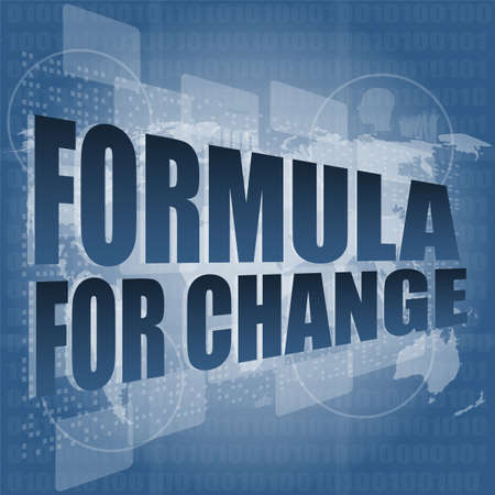 formula for change word on digital touch screen photo