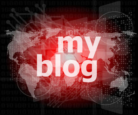 my blog - green digital background - Global internet concept photo