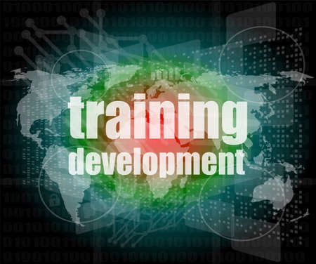 Education and learn concept: Training Development on digital screen photo