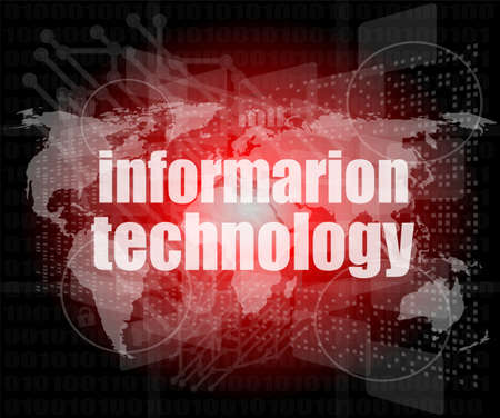 digital information technology concept background photo