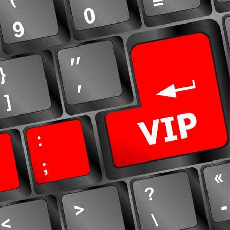 VIP written on keys on computer keyboard photo