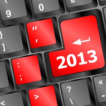 2013 Key On Keyboard. New year photo