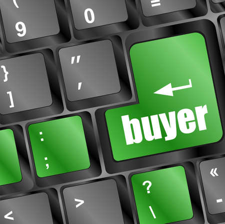 buyer button on keyboard key - business concept photo
