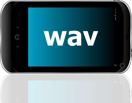 Web development concept: smartphone with word wav on display photo