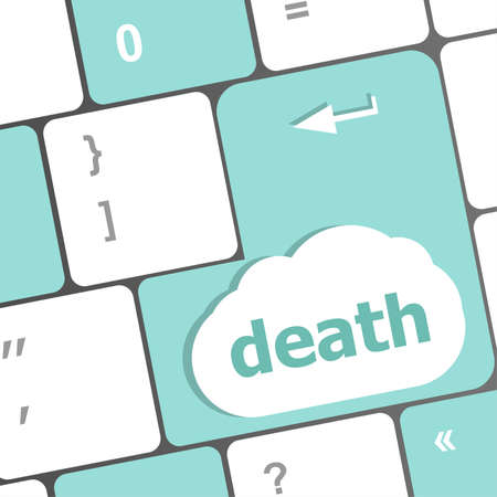 Keyboard with death word button photo