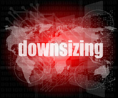 downsizing: Business concept: words Downsizing on digital background