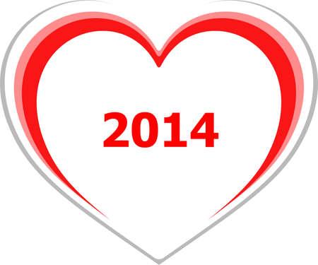 romance strategies: marketing concept, 2014 on love heart on white