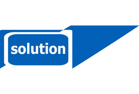 solutions sign web icon photo