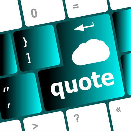 keyboard key for quote - business concept photo