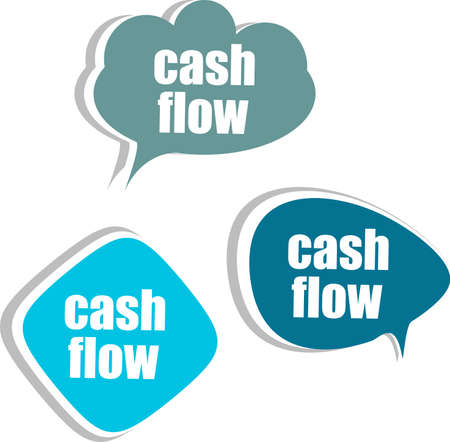 cash flows: cash flow. Set of stickers, labels, tags. Business banners, Template for infographics Stock Photo