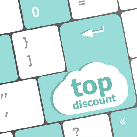 top discount concept sign on computer key photo