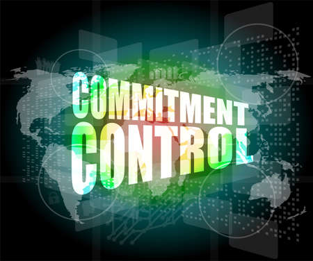 commitment control on digital touch screen photo