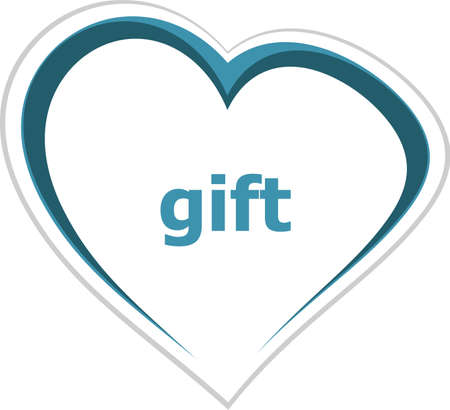 romance strategies: holiday concept, gift word on love heart