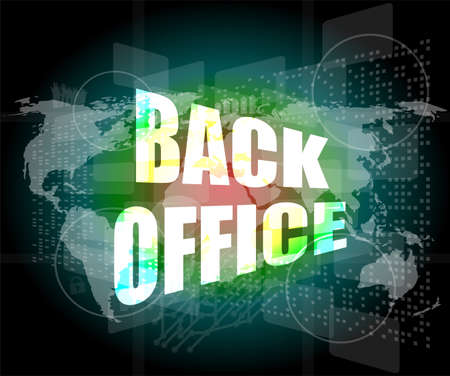word back office on digital touch screen photo