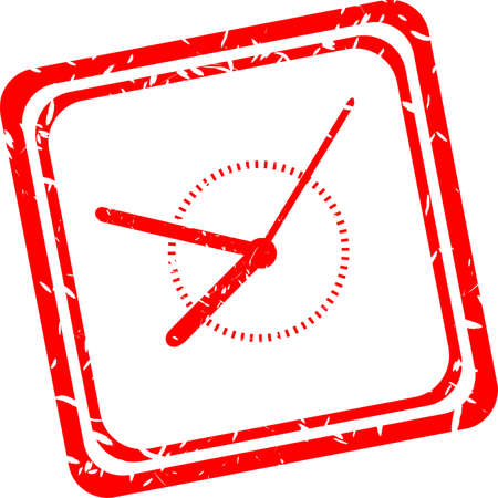 wake up call: Alarm clock sign icon. Wake up alarm symbol. red stamp