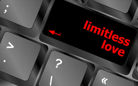 limitless: Modern keyboard key with words limitless love