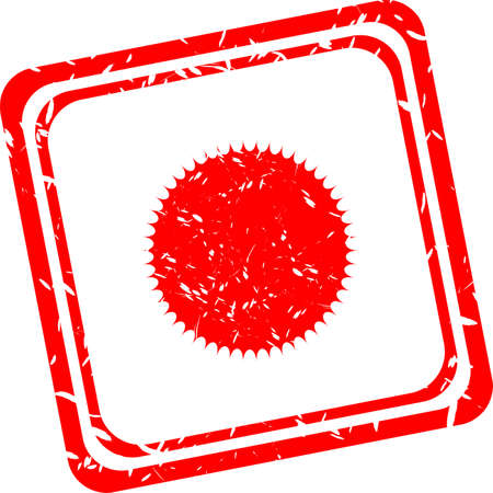 solarium: Sun sign icon. Solarium symbol. Heat button. Red stamp Stock Photo