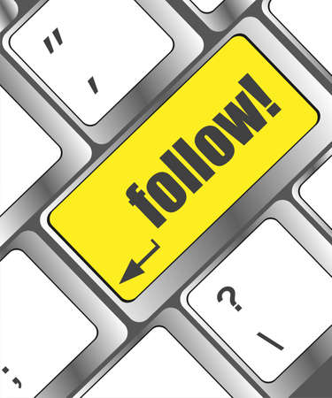Keyboard with follow button photo