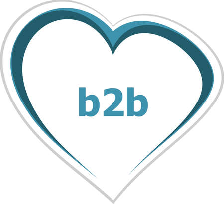 internet concept, b2b word on love heart photo