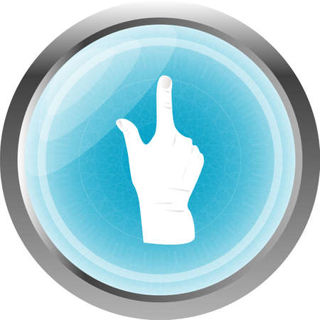 Like hand icon button sign isolated on white photo