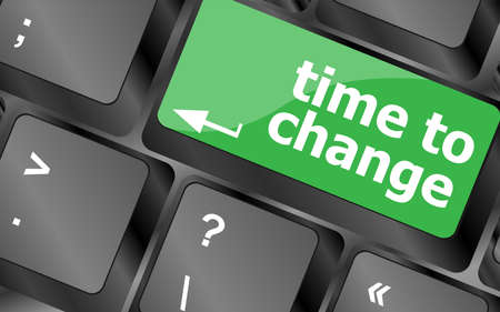 Time concept: computer keyboard word Time to change photo