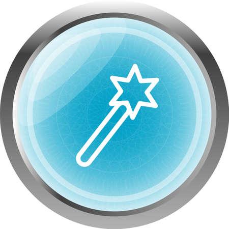 plugin: Icon magic wand, web button isolated on white