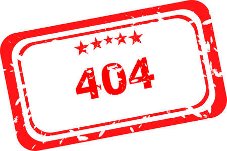404 error red Rubber Stamp over a white background photo